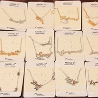 Wholesale Simple fashion all match letter short necklace jewelry sign small fresh global hot free distribution