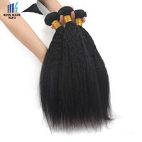afro weave styles - Kinky Straight Brazilian Virgin Hair Bundles Yaki Straight Afro Style Human Hair Extensions inch Unprocessed Remy Hair Weave