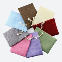 Wholesale The new jewelry packaging hand bag accessories linen series kit jewelry pouches beads cm g fashion linen closing type
