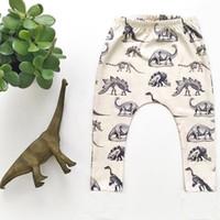 al por mayor regalo de cumpleaños animal-Muchachos Muchachas Dinosaurio Impreso Harem Pantalones Niños Ropa Infantil Niño Dinosaurio Pantalones Leggings Primavera Niños Regalo de cumpleaños new