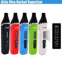Authentique Airis VIVA Herbal Vaporisateur Kit TC OLED Céramique Chambre 2200mAh Li-polymère Batterie Cire Dry Herb vapor stylo Mods vapor e cigs nouveau DHL