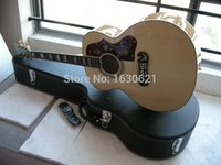 Wholesale New Factory Chibson J200 acoustic guitar mahogany neck J200 acoustic electric guitar full tiger maple for back sides