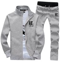 Wholesale New Spring Hoodies Sweatshirts Men quot AE quot Print Embroidery Jackets Tracksuit Set Man Fleece Male Sportswear Hoodie Pants XL