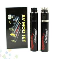 Non-Adjustable av control - The Crime Scene V2 Kit with AV Mod and Bottom Airflow Control RDA Fit Battery Electronic Cigarette DHL Free