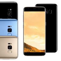 S8 5.5 '' Goophone s8 écran incurvé Quad core MTK6580 réel 1gb / 8gb montre faux 1gb / 32gb débloqué métal déverrouillé téléphone livraison gratuite