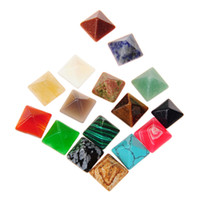 Wholesale Hot DIY Beads Cabochon Cut Quality Poliesh Good Multi Healing Crystal Energy Stones mm Pyramid Specimen Loose GemStone Mineral Collection