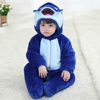 Wholesale Monster fish Winter Romper flannel Baby boy clothing Thick warm Quilted Animal Infant Jumpsuits Bodysuits Toddler clothing