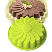 Wholesale inch round silicone cake mold oven baking tools Chiffon cake mold colors at random