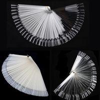 Wholesale False Nail Art Tips Sticks Polish Display Fan Practice Tool Board Nails Tools Makeup White Clear