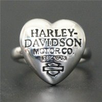 Band Rings Middle Eastern Unisex 2016 Cool newest fashion Biker ring For Real Biker man,polishing style hot sellers good quality ladies Heart Biker ring