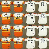 man ray art - 2017 Men s Houston Astros ART HOWE DON SUTTON TERRY PUHL RAY KNIGHT Throwback Baseball Jersey Stitched