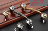 antique glass drawer pulls - Europe Classics vintage furniture handle glass diamond clear crystal drawer cabinet pull knob antique silver antique gold handle