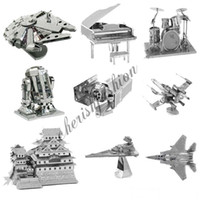 b puzzle - Fancy D Metal Laser Cut Assembly Model D Metallic Nano Puzzle Toys Star Wars Musical Instrument D Building Puzzle Christmas Gifts M15 B
