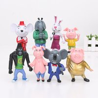 Wholesale 8pcs set cm cm Movie Sing Buster Moon Johnny Rosita Gunter Meena Mike Meena PVC Action Figure Model Toys