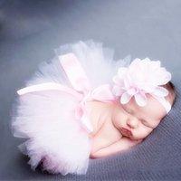 beautiful photo gifts - 1 Set Baby Girl Newborn Baby Beautiful Flower Headband Cute Tutu Skirt Photo Photography Costume Prop New