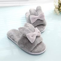 Wholesale 2016 woman Slippers Home slippers indoor slippers Plush Rabbit Ears Slipper fashion Lovely slippers