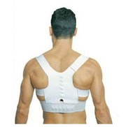 Cheap Free Shipping 2016 Hot Sale Back Posture Corrector Brace Back Shoulder Support Belt Posture Correction Belt for Men White S-XXXL QP103