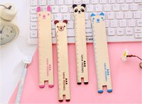 Wholesale Wood and natural color of high grade beech wood ruler with scale wooden ruler of students learning supplies