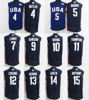 Wholesale High quality New arrival all UAS dream teams players jerseys Men Dark blue jerseys Running Jerseys