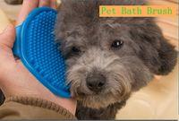 Щетки для собак RU-Новые Продукты для домашних животных Мягкие резиновые собаки ванны Кисть Comb Очистка Массаж Уход перчатки Cat Щетка имеет 3-х цветов