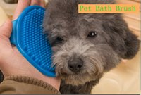 bath trays - New Pet Products Soft Rubber Dog Bath Brush Comb Cleaning Massage Grooming Glove Cat Brush have colors