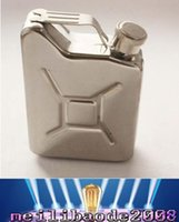 Wholesale Hot Sales oz Hip Flasks Liquor Whisky Pocket Bottle Funnel Portable Flagon Drinkware Stainless Steel MYY