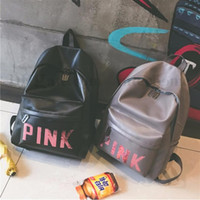 Wholesale Women Pink Sequins Backpack Pink Letter Sequin Glitter Backpacks PU Fashion School Bags Waterproof Travel Bags Teenager Shoulder Bags B1955