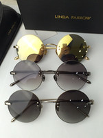 beach linda - Linda Farrow Retro Round Sunglasses Rimless Mirror Sunglasses brand new with case