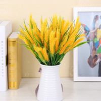 Wholesale Artificial Wheat Grain Branches with Grass Fake Foliage Flower Leaf Garland Plant Home Decoration New
