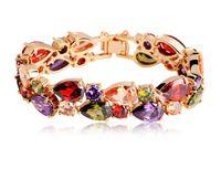 Wholesale 18K real gold plating AAA teardrop Cubic zircon bangle for bride wedding celebrating