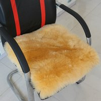 Wholesale New Arrival Soft Chair Pads Warm Faux Wool Seat Pads Comfortable Home Office Chair Cushion Solid Color JA0188
