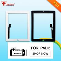 Vidrio delantero de la flexión del digitizador de la pantalla táctil del AAA de la alta calidad para el envío libre blanco negro del iPad 2/3/4