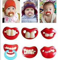 Wholesale New high quality Lip little Baby favor gifts Infant Pacifier Novelty Toddler Pacy Nipple Funny Soothers Baby love supplies