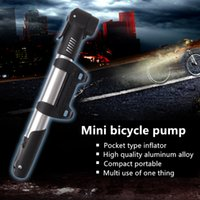 Wholesale Outdoor riding mini portable Aluminum Alloy mountain bike car dead fly inflator for bicycle riding equipment