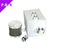 Wholesale 1L Aluminum oil catch can tank with breather drain tap LT in stock ready to ship