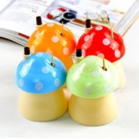 Wholesale New Creative Novelty Mushroom Household Automatically Toothpick Box Holder Hot