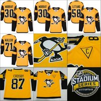 2017 Stadium Series Pittsburgh Penguins 87 Sidney Crosby Evgeni Malkin Kris Letang Matt Murray 81 Phil Kessel jersey de hockey cousu