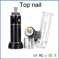 arm temperature - Top nail electro Portable Enail Temperature Controller concentrate vaporizer wax pen vaporisateur dab with Side arm Aqua Bubbler Quartz nail