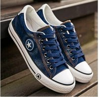 Wholesale 2016 spring and summer washed denim canvas shoes High quality women s casual shoes Student shoes