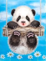 baby pandas pictures - DIY Full Diamond Painting Embroidery Home Decoration Diamond Mosaic Painting Without Frame Pictures Square Drill Baby Panda A3256