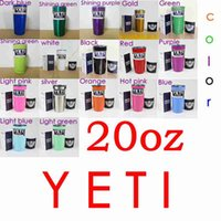 Wholesale 20 oz colors YETI Rambler Tumbler Cups Cooler Travel Vehicle Beer Mug Double Wall Bilayer Vacuum Insulated Stainless Steel