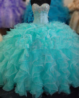 Wholesale Plus Size Masquerade Ball Gowns Puffy Sweet Quinceanera Dresses New Quinceanera Dresses Formal Prom Party Ball Gown Pageant