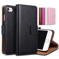 apple wholesale supplier - For iphone s plus s Genuine Leather Case Wallet Case With Credit Card slot holder stand cases cover supplier