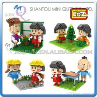 bi modelling - DHL Mini Qute LOZ Anime japanese cartoon Chi bi Maruko plastic building block brick model Action Figures educational toy
