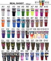Wholesale YETIS CUPS oz oz Colored Yeti Rambler Tumbler Cup Two Tone Ombre Blueline Punisher Skull Stainless Steel Travel yeti Mugs