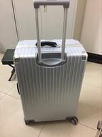 Wholesale Vintage aluminum frame rolling suitcase luggage suitcase