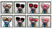 abstract glass painting - 8pcs Cartoon Frog Wears Glasses High Quality genuine Hand Painted Wall Decor Abstract Animal Art Oil Painting On High quality Canvas ali Daf