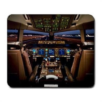 airplane cockpit - Boeing Airplane Cockpit Mouse Pad Customized Game Mouse mat Rectangle mouse mat