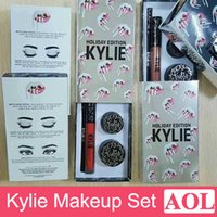 cream eye liner - New arrival KYLIE Holiday Edition Makeup set include lipgloss eyeshadow Creme eyeliner cream eye liner Christmas Birthday gifts DHL free