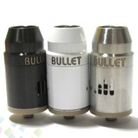 Replaceable airs bullets - Bullet RDA Rebuildable Atomizers Dripping Vaporizer Clone PEEK Material Stainless Steel Adjustable Air Flow Fit Mechanical Mods DHL Free
